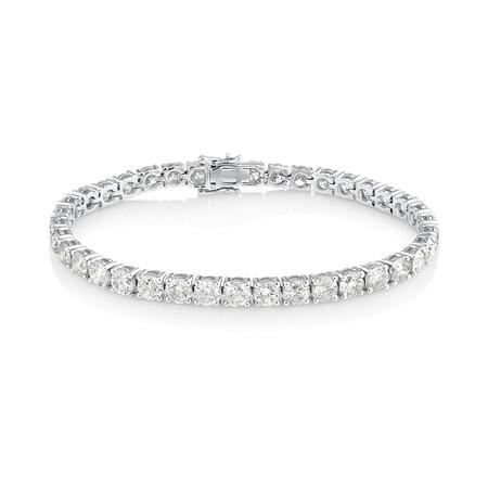 Tennis Bracelet with 14.25 Carat TW of Diamonds In 14kt White Gold