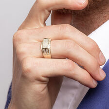 Men's Ring with 0.45 Carat TW of Diamonds in 10kt Yellow Gold