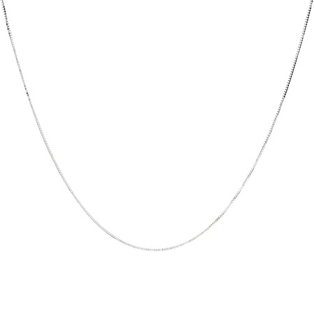 "45cm (18"") Box Chain in 18kt White Gold"