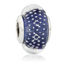 Online Exclusive - Purple Glass Charm in Sterling Silver