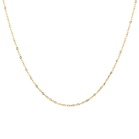 "40cm (16"") Solid Cable Chain in 10kt Yellow Gold"