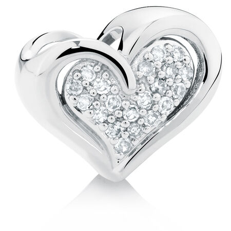Diamond Set Heart Charm