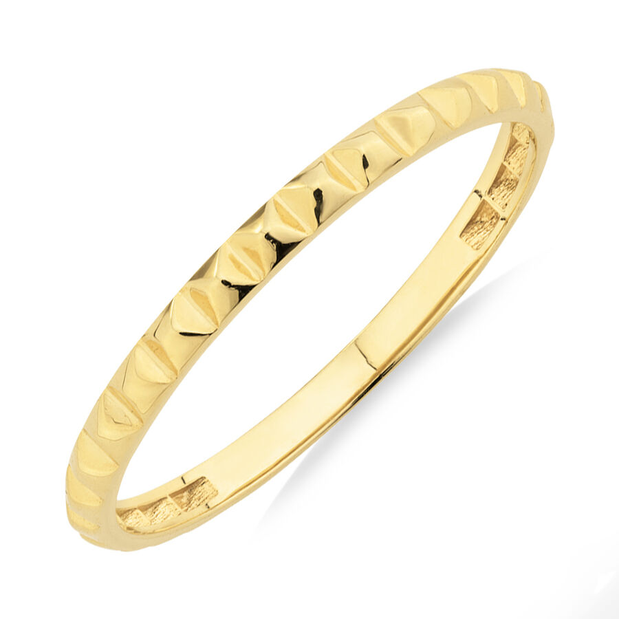 Square Stacker Ring in 10kt Yellow Gold