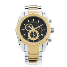Men's Watch in Silver & Gold Tone Stainless Steel