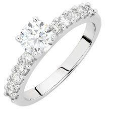 Engagement Ring with 1.10 Carat TW of Diamonds in 14kt White Gold