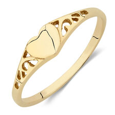 Heart Ring in 10kt Yellow Gold