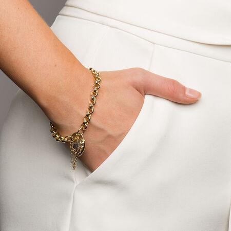 "19cm (7.5"") Rolo Bracelet in 10kt Yellow & White Gold"