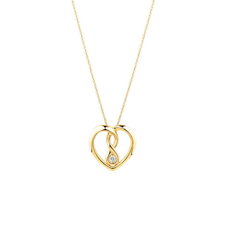 Small Infinitas Pendant with Diamonds in 10kt Yellow Gold