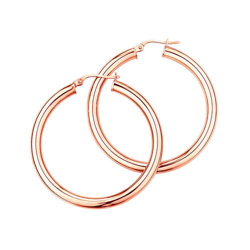 29mm Hoop Earrings in 10kt Rose Gold