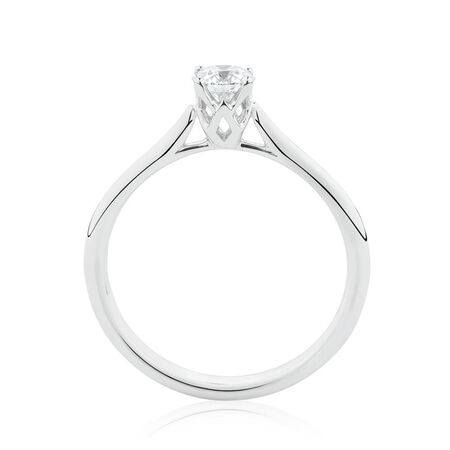 Southern Star Solitaire Engagement Ring with a 0.34 Carat TW Diamond in 14kt White Gold