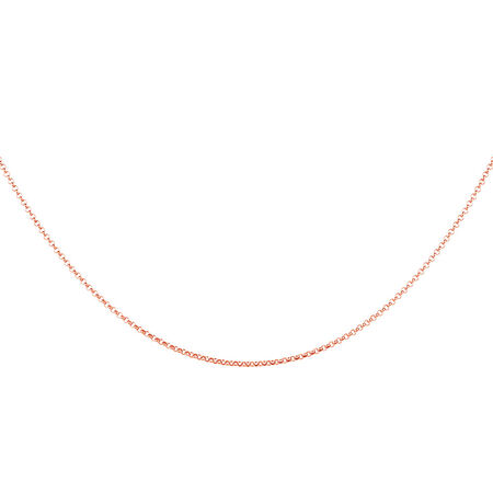 """50cm (20"""") Rolo Chain in 10kt Rose Gold"""