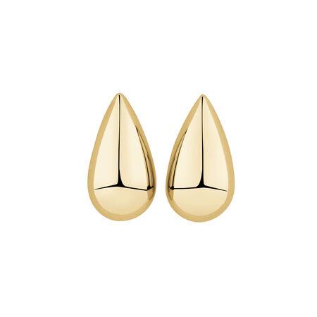 Teardrop Stud Earrings in 10kt Yellow Gold