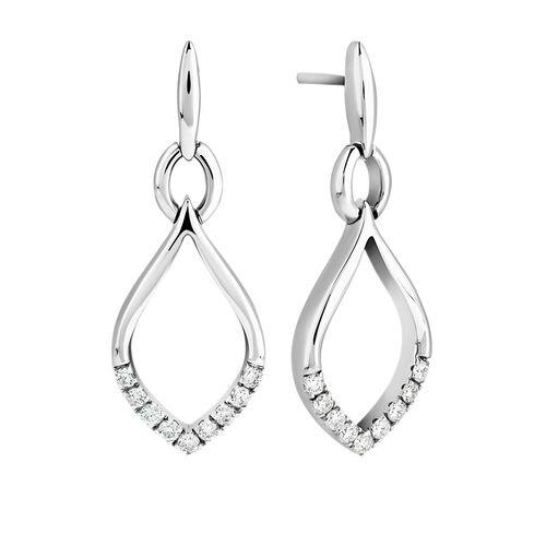 Drop Earrings in 0.25 Carat TW of Diamonds in Sterling Silver
