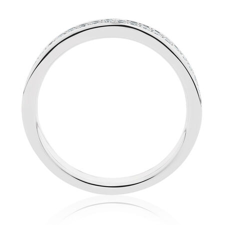 Wedding Band with 1/5 Carat TW of Diamonds in 14kt White Gold