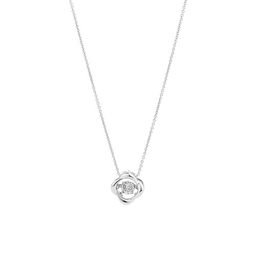 Everlight Twist Pendant with Diamonds in Sterling Silver