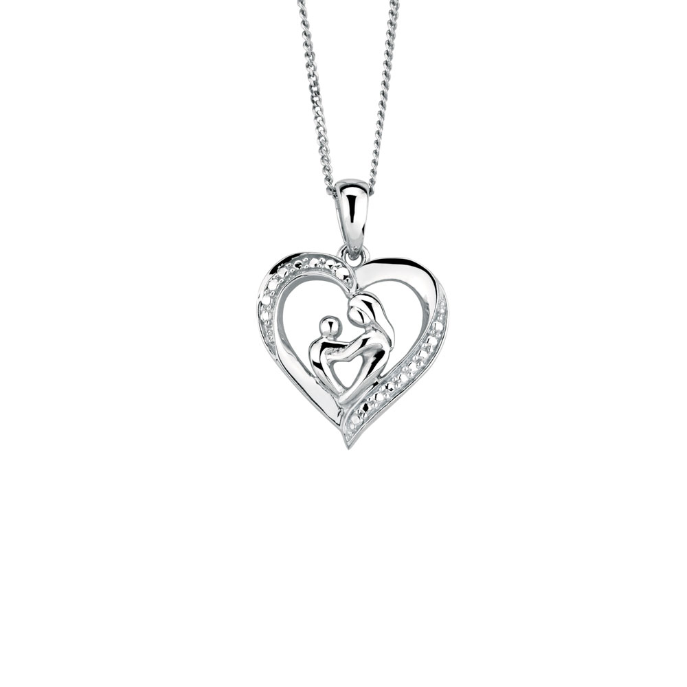 sterling image pendant silver product necklace pixie products cove mother child