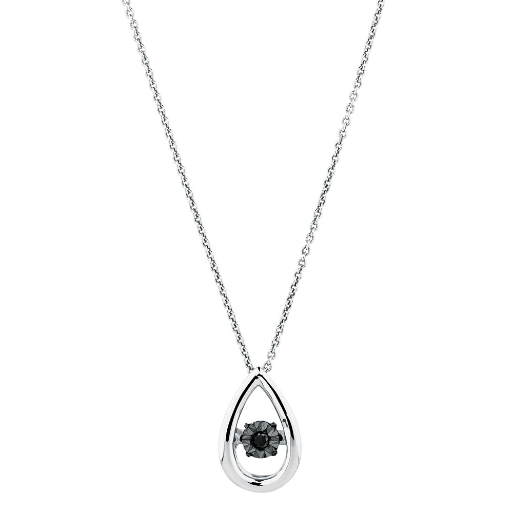 Everlight pendant with an enhanced black diamond in sterling silver mozeypictures Gallery