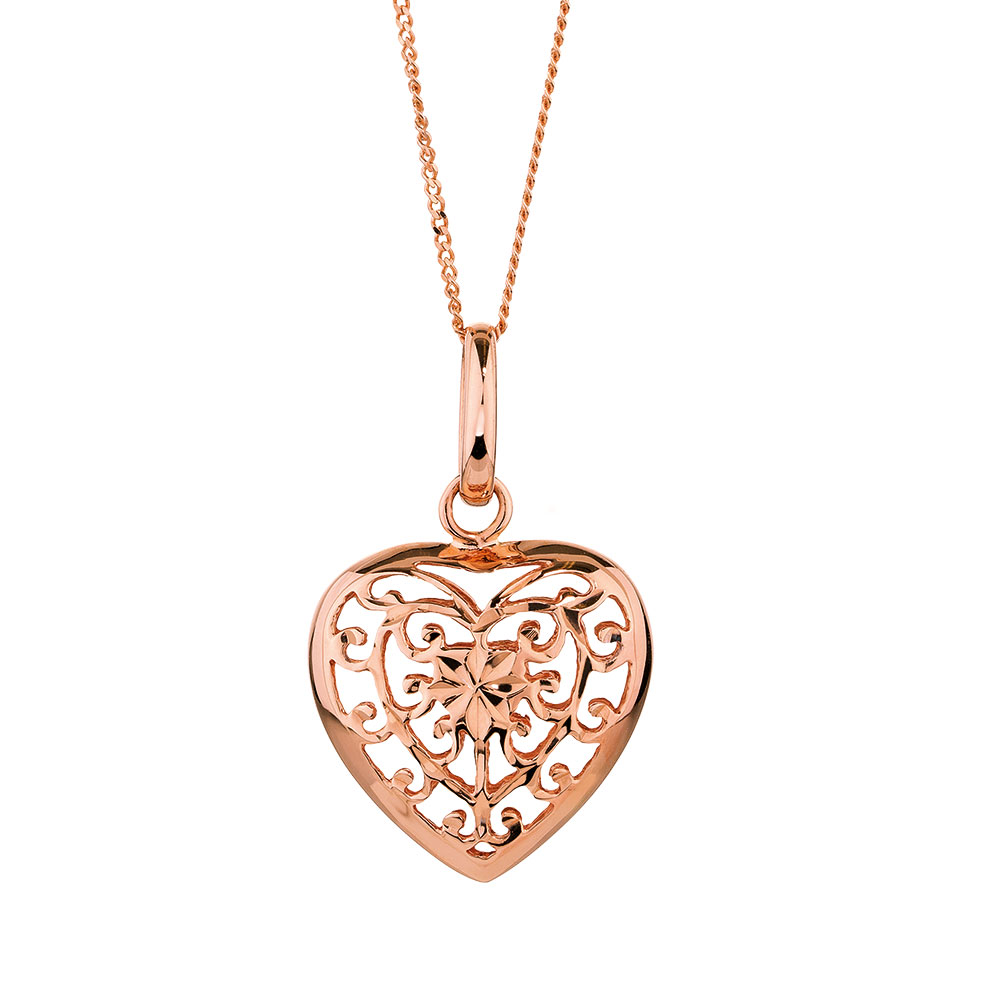 Heart pendant in 10kt rose gold mozeypictures Image collections