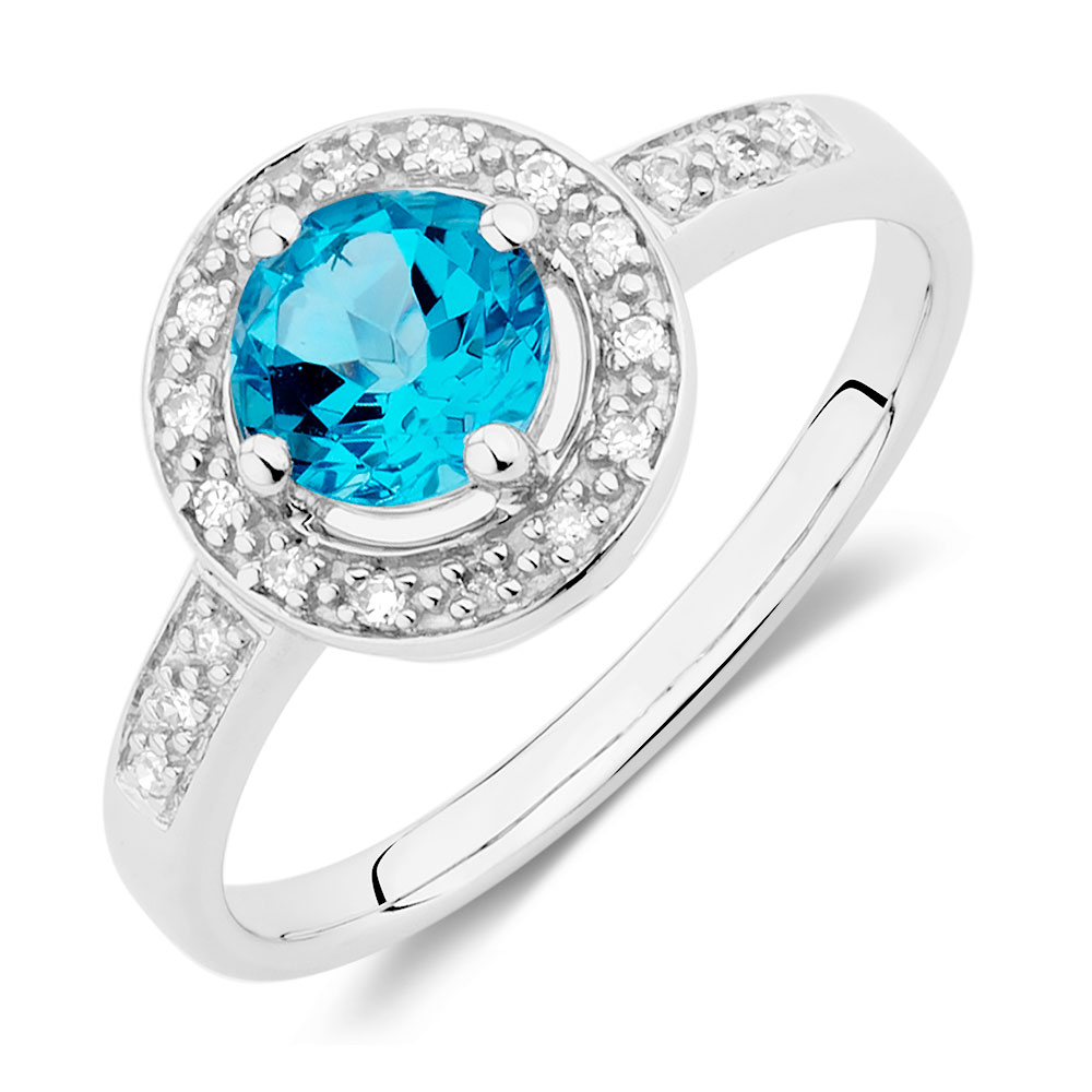 in kt blue white a and london gold topaz diamond ring