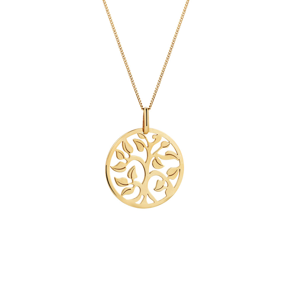 Tree of life pendant in 10kt yellow gold aloadofball Gallery