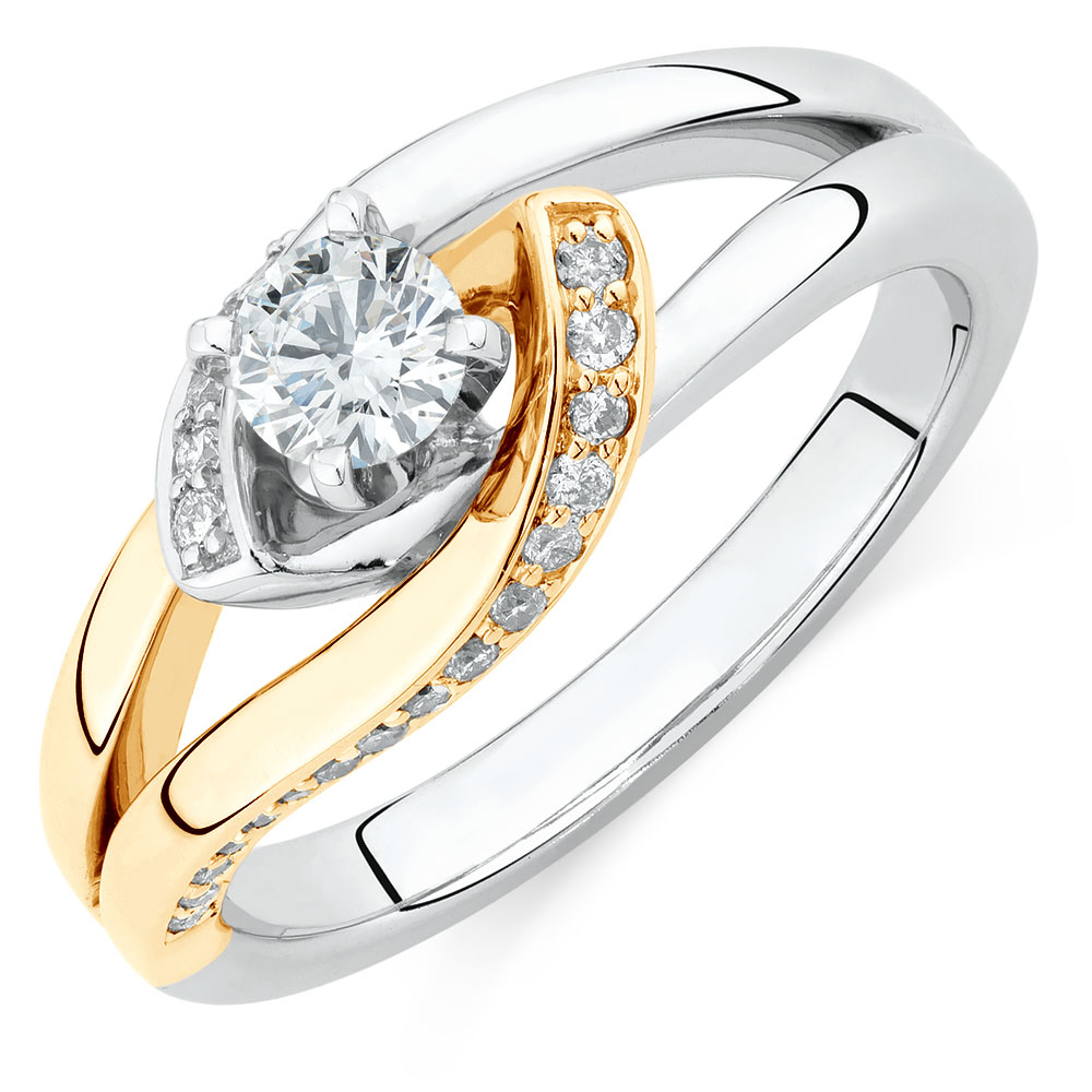 Engagement Ring With 1 2 Carat Tw Of Diamonds In 14kt