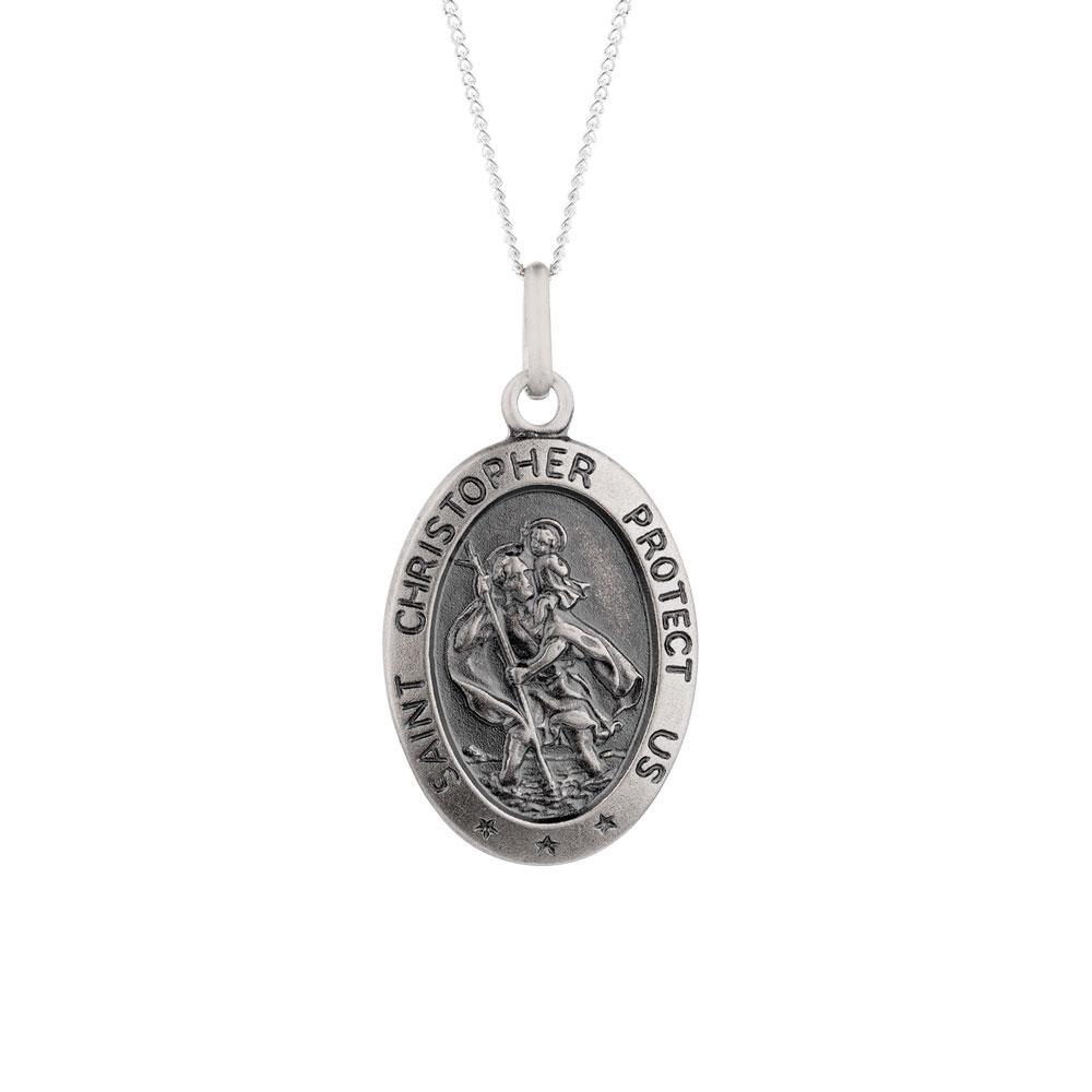St christopher pendant in sterling silver aloadofball Gallery