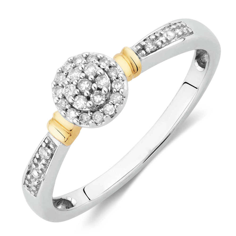 Kt White Gold Ring With Diamonds Mhj