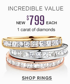 Incredible Value | New $799 each 1 carat of diamonds | shop now
